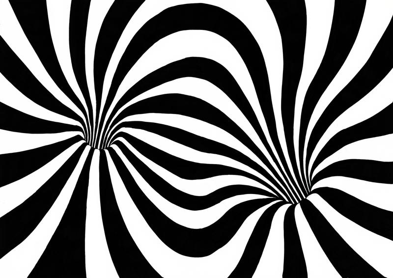 20130210-2225 - Tekening door Janet - Zwart-wit met verdwijnpunt, verkleind