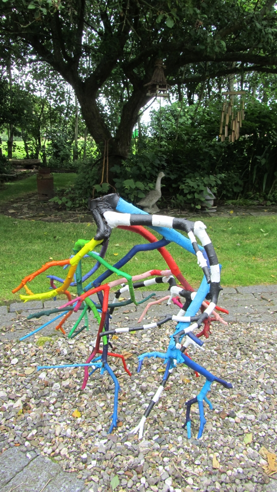 Walkabout, Installation art by Janet Plantinga, closeup 2