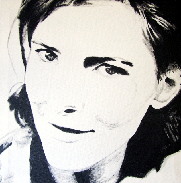 Portret van Hanny Plantinga by Janet Plantinga
