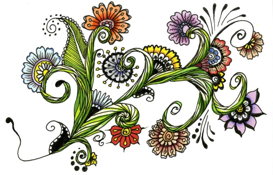20130810 - Zentangle weekly challenge 130 by Janet Plantinga