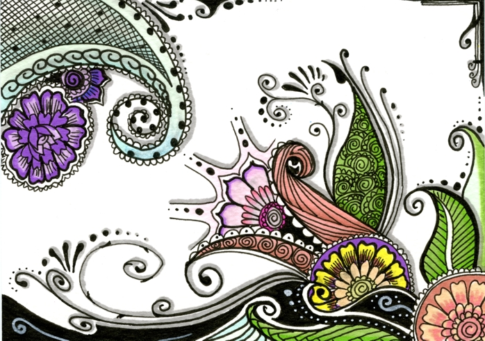 20130601 Zentangle by Janet Plantinga colored - verkleind