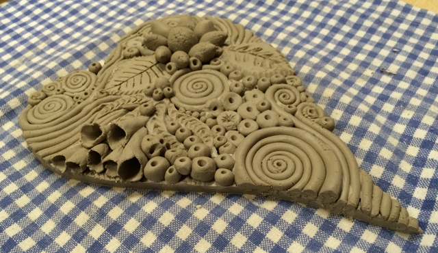 Doodle clay heart by Janet Plantinga 2