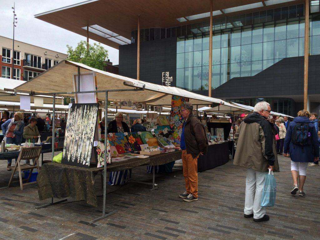 Kunstmarkt Wilhelminaplein Leeuwarden 2016